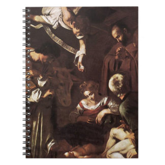 Caravaggio -Nativity with St Francis & St Lawrence Notebooks