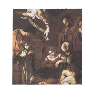 Caravaggio -Nativity with St Francis & St Lawrence Notepad