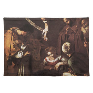 Caravaggio -Nativity with St Francis & St Lawrence Placemat