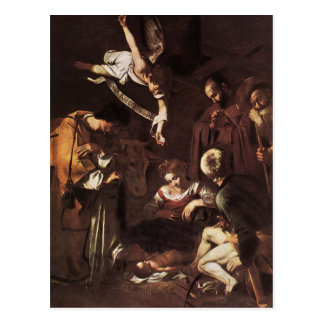 Caravaggio -Nativity with St Francis & St Lawrence Postcard