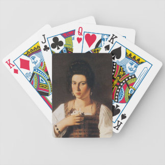 Caravaggio - Portrait of a Courtesan Painting Bicycle Playing Cards
