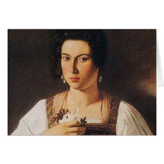 Caravaggio - Portrait of a Courtesan Painting Card