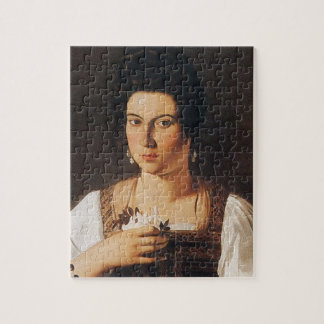 Caravaggio - Portrait of a Courtesan Painting Jigsaw Puzzle