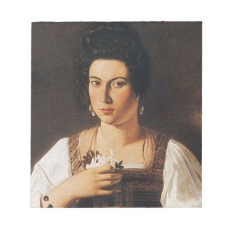 Caravaggio - Portrait of a Courtesan Painting Notepad
