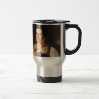 Caravaggio - Portrait of a Courtesan Painting Travel Mug