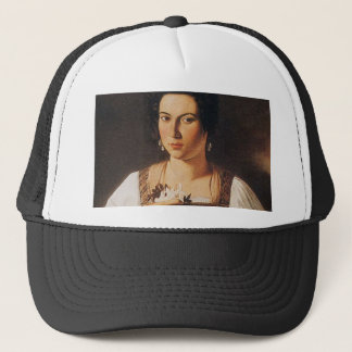 Caravaggio - Portrait of a Courtesan Painting Trucker Hat