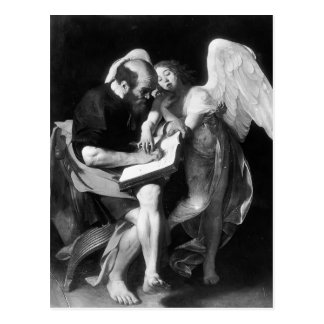 Caravaggio- Saint Matthew and the Angel Postcard