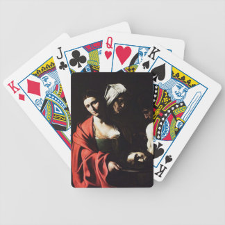 Caravaggio - Salome - Classic Baroque Artwork Bicycle Playing Cards