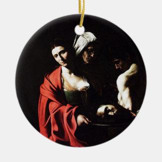 Caravaggio - Salome - Classic Baroque Artwork Ceramic Ornament