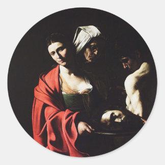 Caravaggio - Salome - Classic Baroque Artwork Classic Round Sticker