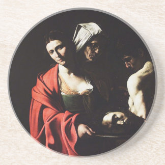 Caravaggio - Salome - Classic Baroque Artwork Coaster