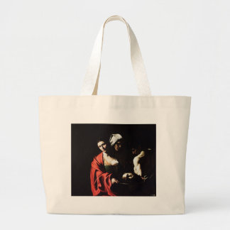 Caravaggio - Salome - Classic Baroque Artwork Large Tote Bag