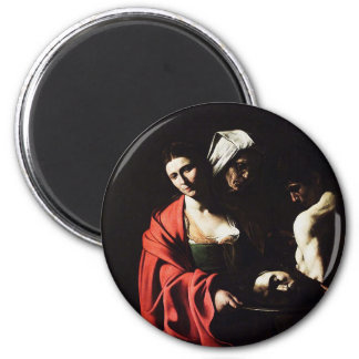 Caravaggio - Salome - Classic Baroque Artwork Magnet