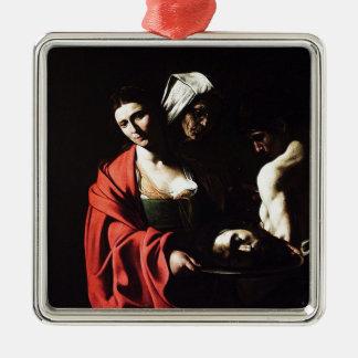 Caravaggio - Salome - Classic Baroque Artwork Metal Ornament