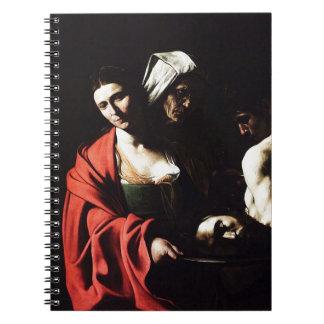 Caravaggio - Salome - Classic Baroque Artwork Notebook
