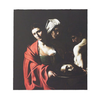 Caravaggio - Salome - Classic Baroque Artwork Notepad