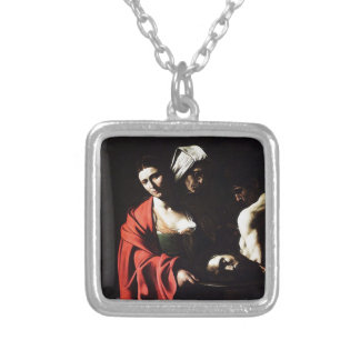 Caravaggio - Salome - Classic Baroque Artwork Silver Plated Necklace