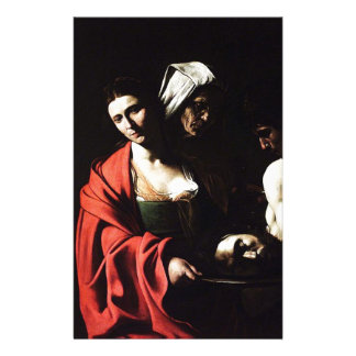 Caravaggio - Salome - Classic Baroque Artwork Stationery
