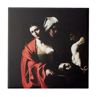 Caravaggio - Salome - Classic Baroque Artwork Tile