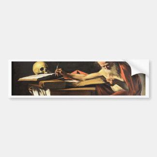 Caravaggio - San Gerolamo - Renaissance Painting Bumper Sticker