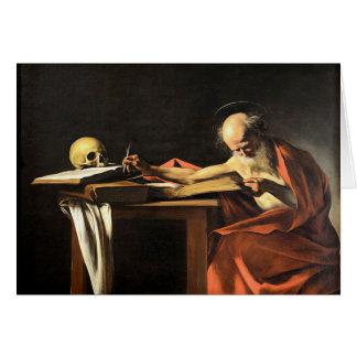 Caravaggio - San Gerolamo - Renaissance Painting Card