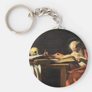 Caravaggio - San Gerolamo - Renaissance Painting Key Ring