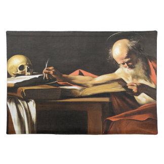 Caravaggio - San Gerolamo - Renaissance Painting Placemat