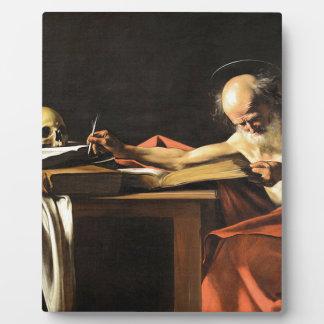 Caravaggio - San Gerolamo - Renaissance Painting Plaque