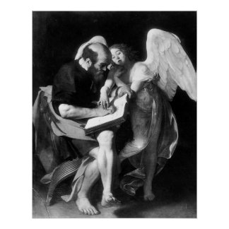 Caravaggio St Matthew And The Angel Poster