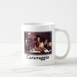 Caravaggio - Supper at Emmaus Basic White Mug