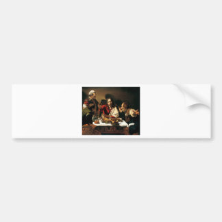 Caravaggio - Supper at Emmaus - Classic Painting Bumper Sticker