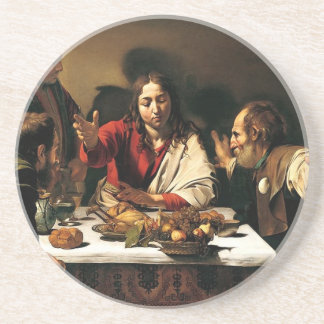 Caravaggio - Supper at Emmaus - Classic Painting Coaster
