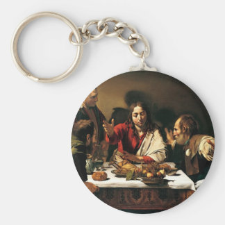 Caravaggio - Supper at Emmaus - Classic Painting Key Ring