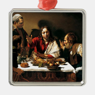 Caravaggio - Supper at Emmaus - Classic Painting Metal Ornament