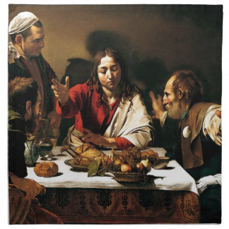Caravaggio - Supper at Emmaus - Classic Painting Napkin