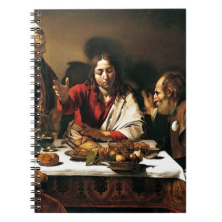 Caravaggio - Supper at Emmaus - Classic Painting Notebook