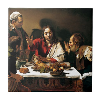 Caravaggio - Supper at Emmaus - Classic Painting Tile