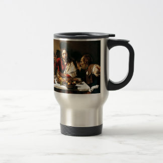 Caravaggio - Supper at Emmaus - Classic Painting Travel Mug