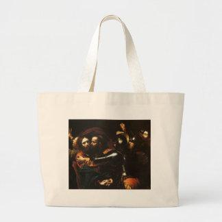 Caravaggio - Taking of Christ - Classic Artwork Large Tote Bag