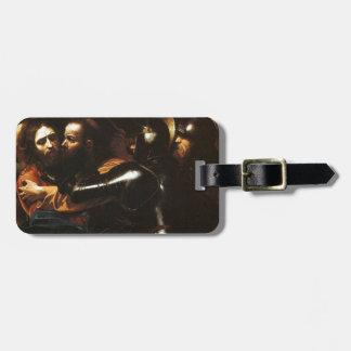 Caravaggio - Taking of Christ - Classic Artwork Luggage Tag