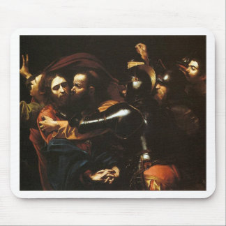 Caravaggio - Taking of Christ - Classic Artwork Mouse Pad