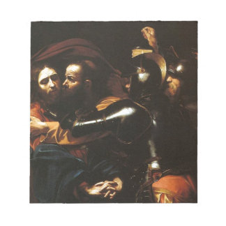 Caravaggio - Taking of Christ - Classic Artwork Notepad