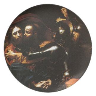 Caravaggio - Taking of Christ - Classic Artwork Plate