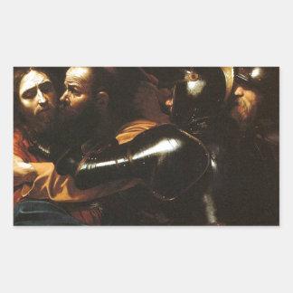 Caravaggio - Taking of Christ - Classic Artwork Rectangular Sticker