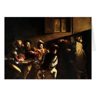 Caravaggio - The Calling of Saint Matthew Card