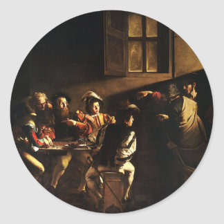 Caravaggio - The Calling of Saint Matthew Classic Round Sticker