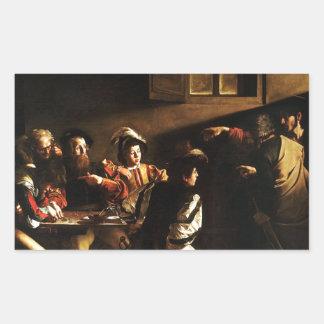 Caravaggio - The Calling of Saint Matthew Rectangular Sticker