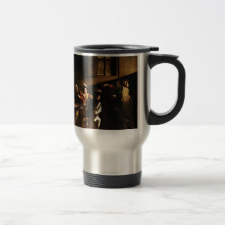 Caravaggio - The Calling of Saint Matthew Travel Mug