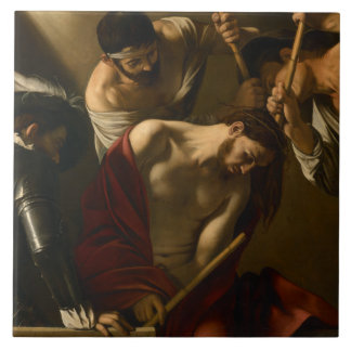 Caravaggio - The Crowning with Thorns Large Square Tile