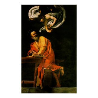 Caravaggio The Inspiration Of Saint Matthew Poster